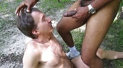 I cum on handsome man's face in the park (GBMcumsTHv01)
