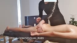 Asian with great ass gives me blowjob after erotic massage and cums a lot