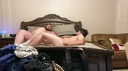 Straight Guy with Girlfriend Begs for Thick Chub Cock and Cum