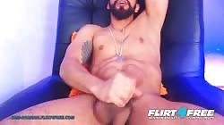 Sam Dornan on Flirt4Free - Latino Cam Model with a Big Beautiful Cock and OhMiBod in His Ass