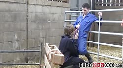 Homesteading twink making anal love with European homo