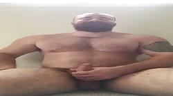 Big Dick Musclebear Flexing Naked. Hot Musclebear Posing Giant Cock