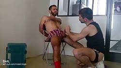 hunk guy fuck good ass on a chair